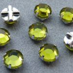 SS30-50230-Slv Extra Chaton Rose Montees Olivine Silver 8 Pc.-0