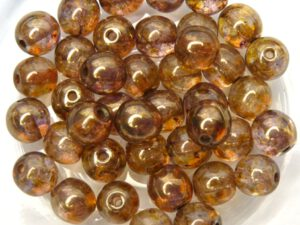 0030052 Crystal Lila Gold Luster round 6 mm. 40 Pc.-0