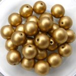 0030091 Crystal Silky Gold round 8 mm. 25 Pc.-0