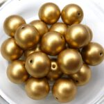0030092 Crystal Silky Gold round 10 mm. 14 Pc.-0