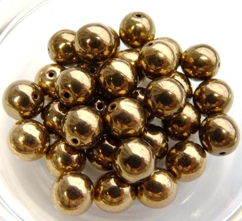 08-R-00030-90215 Golden Bronze round 8 mm. 20 Pc.-0