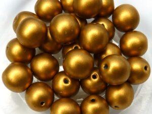 08-R-00030-01740 Silky Brass Gold round 8 mm. 25 Pc.-0