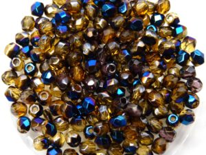 0030207 Blue Iris Topaz facet 3 mm. 75 Pc.-0