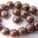 0080245 Alabaster Terracotta Purple round 7 mm. 22 Pc.-0