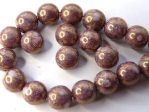 0080245 Alabaster Terracotta Purple round 7 mm. 22 Pc.-0