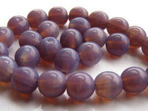 0080267 Milky Amethyst Round 6 mm, 35 Pc.-0