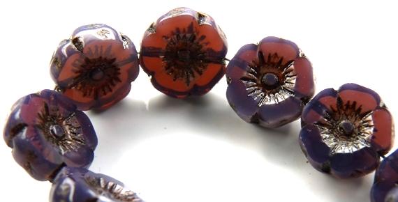 0080303 Opal Tanzanite/Purple Black Wax Table Cut 6 Pc.-0