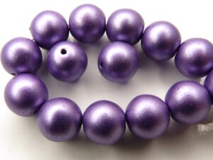 0080270 Metallic Suede Purple round 10 mm. 12 Pc.-0