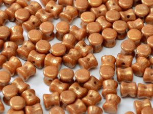 PEL-03000-14497 Chalk White Copper/Red Luster Pellet Beads 50 Pc.-0