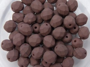 0030195 Saturated Brown Facet 6 mm. 25 Pc.-0