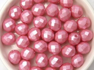0070378 Pastel Pearl Pink Facet 8 mm. 15 Pc.-0
