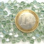 0100341 Crystal Green 2Way facetted 4 mm. 40 Pc-0