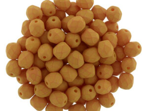 0130125 Saturated Pumpkin Facet 4 mm. 50 Pc,-0