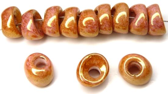 Nan-02010-14495 Chalk Apricot Nano Beads 20 Pc.-0