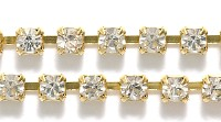 SS12-00030-AU Crystal Gold Cup Chain 20 Cm.-0