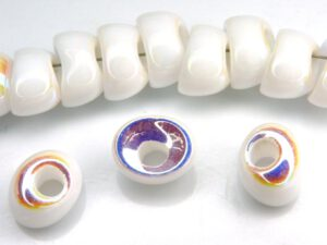 Nan-03000-28703 Chalk White AB Nano Beads 20 Pc.-0