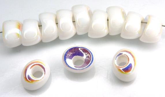 Nan-03000-28703 Chalk White AB Nano Beads 20 Pc.-0