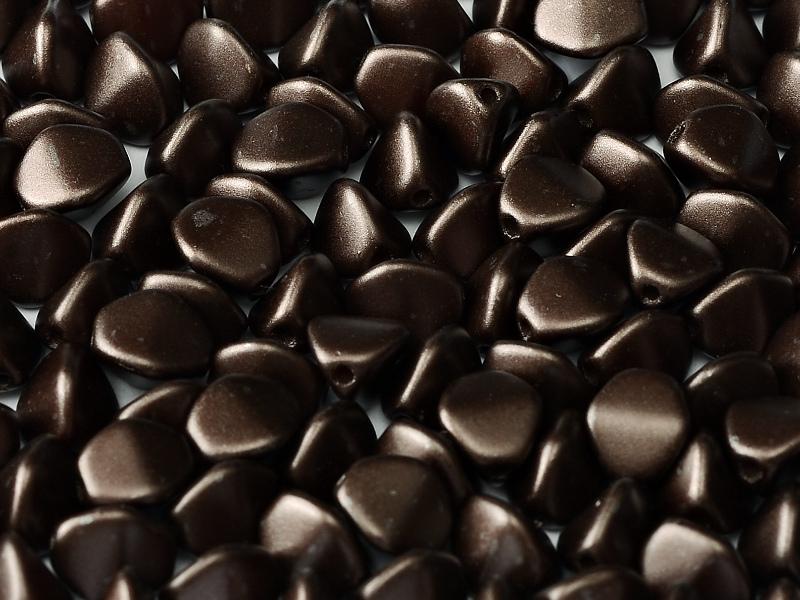 PI-25036 Pastel Dark Brown Pinch Beads 10 gram-0