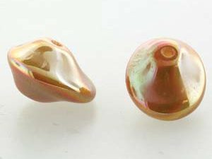 UFO-02010-29123 Alabaster Full Apricot Ufo Beads 20 Pc.-0