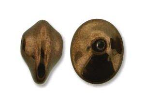 UFO-23980-14415 Jet Dark Bronze Ufo Beads 20 Pc.-0