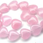 0070034 Milky Pink Heart  10 x 10 mm. 28 Pc.-0