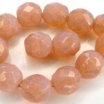 0070291 Pink Opal Facet 10 mm. 8 Pc.-0