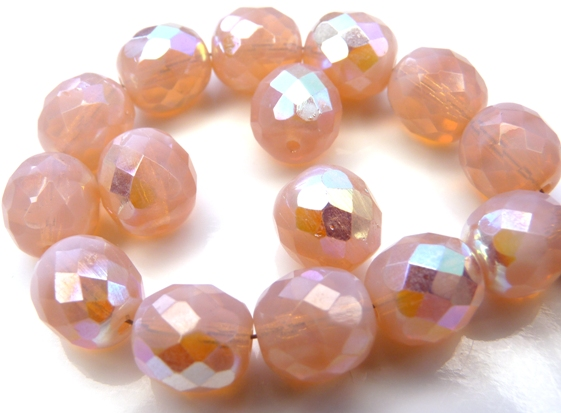 0070292 Pink Opal AB Facet 10 mm. 8 Pc.-0