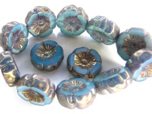 0090255 Silk Blue Opal Vega, Table Cut Flower 6 Pc.-0