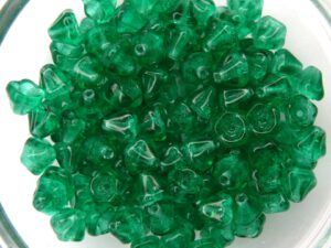 0100055 Emerald green Flower Cup 100 Pc.-0