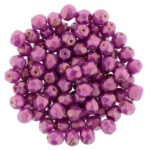 0070295 Halo Ethereal – Madder Rose facet 4 mm. 50 Pc.-0