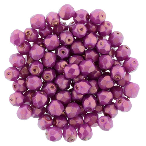 0070295 Halo Ethereal - Madder Rose facet 4 mm. 50 Pc.-0