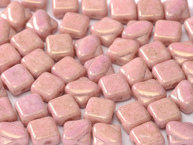 SL-02010-14494 Alabaster Pink/Lila Luster Silky Beads 30 Pc.-0