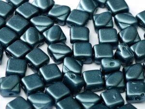 SL-02010-25042 Pastel Pearl Montana Blue Silky Beads 30 Pc.-0