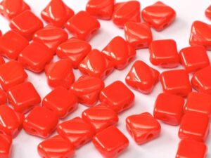 SL-93190 Opaque Red Silky Beads 30 Pc.-0