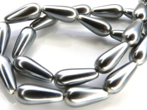 0020067 Silver-Grey Pearl Drop. 18 Pc.-0