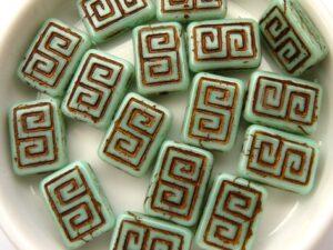 0100015 Light Green Turquoise Copper design 12 stuks-0