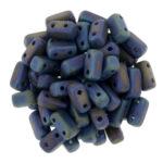 BRI-23980-21135 Matte Iris Blue Czech Mate Bricks 40 Pc.-0