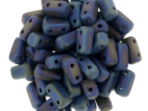 BRI-23980-21135 Matte Iris Blue Czech Mate Bricks 40 Pc.-0