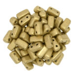 BRI-00030-01710 Silky Gold Czech Mate Bricks 40 Pc.-0