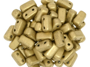 BRI-00030-01710 Silky Gold Czech Mate Bricks 40 Pc.-0