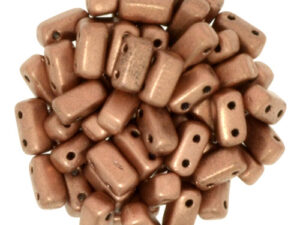 BRI-00030-01770 Matte Metallic Copper Czech Mate Bricks 40 Pc.-0