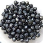 0020250 Matte Hematite facet 4 mm. 50 Pc.-0