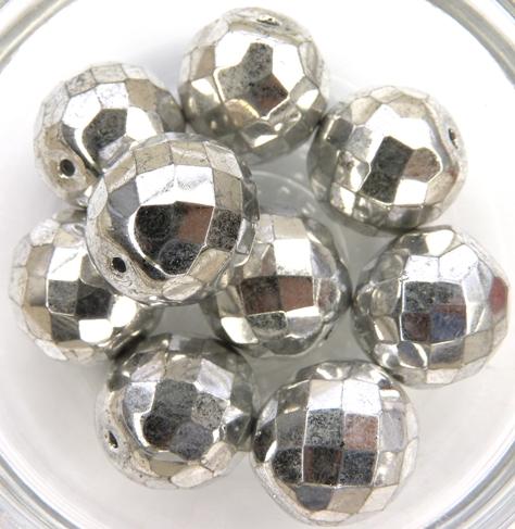0020257 Crystal Full Labrador Facet 14 mm. 4 Pc.-0