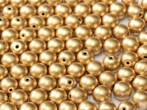 06-R-00030-01710 Silky Gold Round 6 mm. 50 Pc.-0