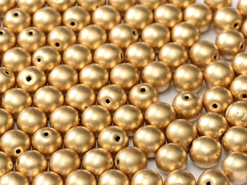 06-R-00030-01710 Silky Gold Round 6 mm. 50 Pc.-0