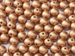 06-R-00030-01770 Silky Vintage Copper Round 6 mm. 50 Pc.-0