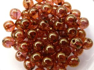 06-R-00030-65491 Crystal Roze Gold Topaz Luster Round 6 mm. 50 Pc.-0