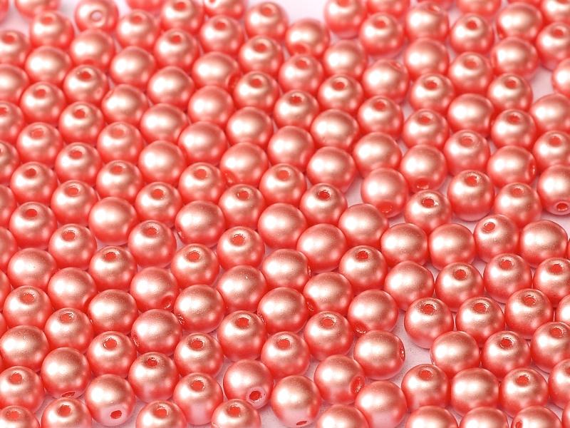 06-R-02010-25007 Pastel Light Coral Round 6 mm. 50 Pc.-0