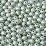 06-R-02010-29405 Metallic Mat Silver Round 6 mm. 50 Pc.-0