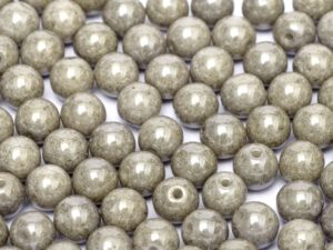 06-R-03000-14449 Chalk Grey Luster Round 6 mm. 50 Pc.-0